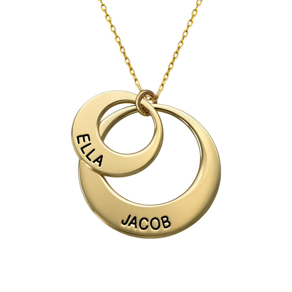 Jewelry for Moms - Disc Necklace in 10K Gold - 1