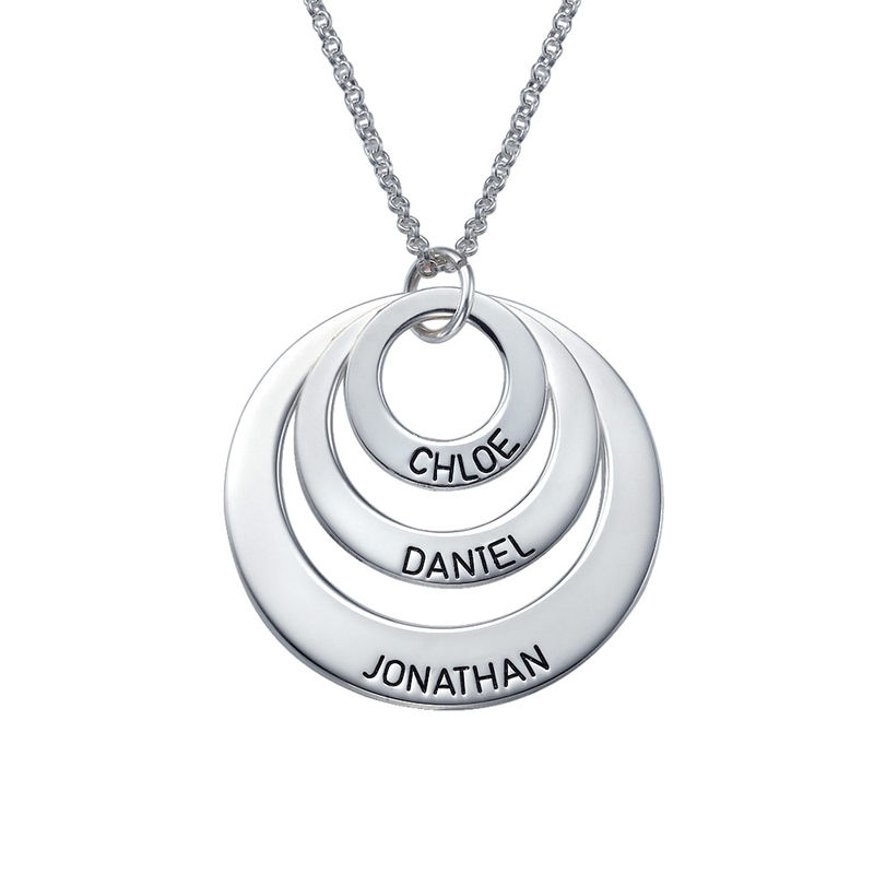 Jewelry for Moms - Three Disc Necklace in Sterling Silver
