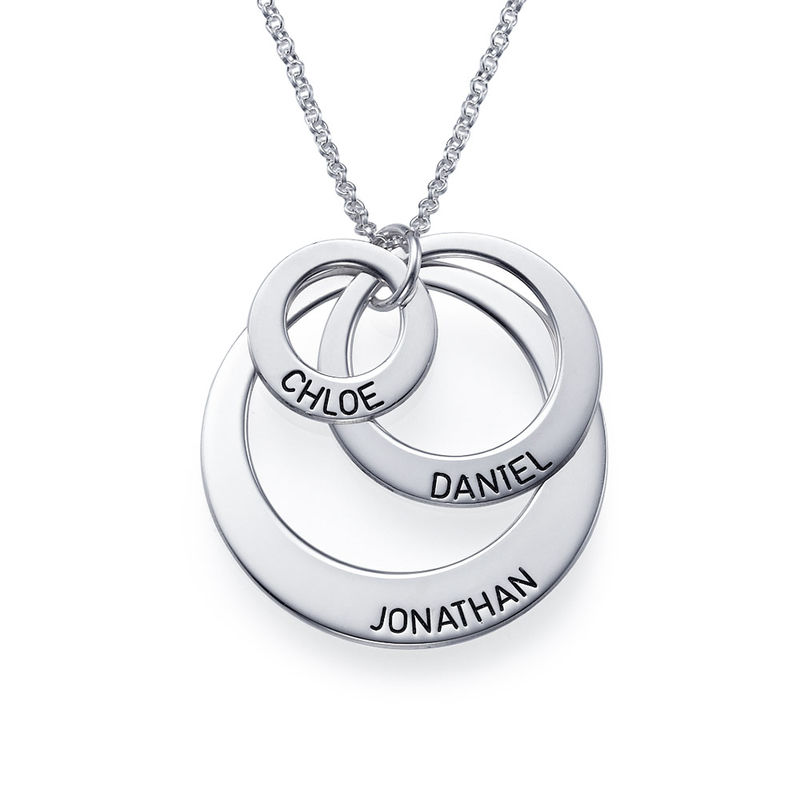 Jewelry for Moms - Three Disc Necklace in Sterling Silver - 1