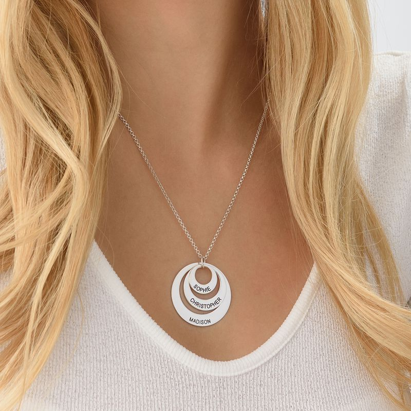 Jewelry for Moms - Three Disc Necklace in Sterling Silver - 5