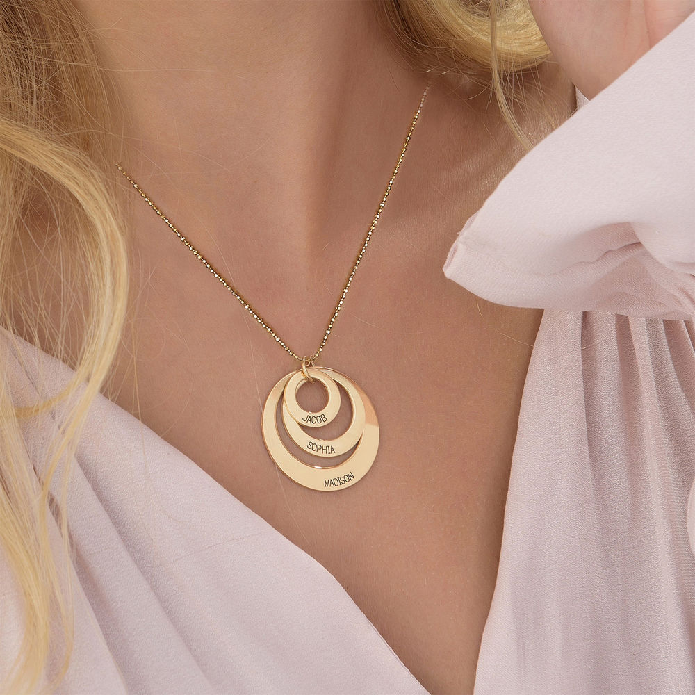 Jewelry for Moms - Three Disc Necklace in 10K Gold - 3