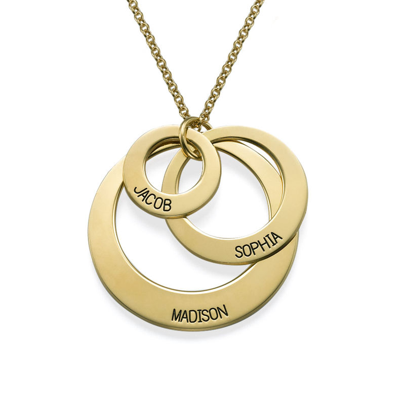 Jewelry for Moms - Three Disc Necklace in Vermeil - 1