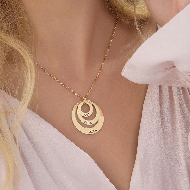 Jewelry for Moms - Three Disc Necklace in Vermeil - 5