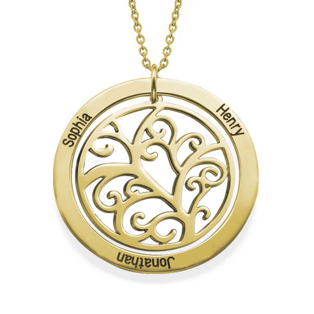 Family Tree Birthstone Necklace in 18K Gold Vermeil - 1