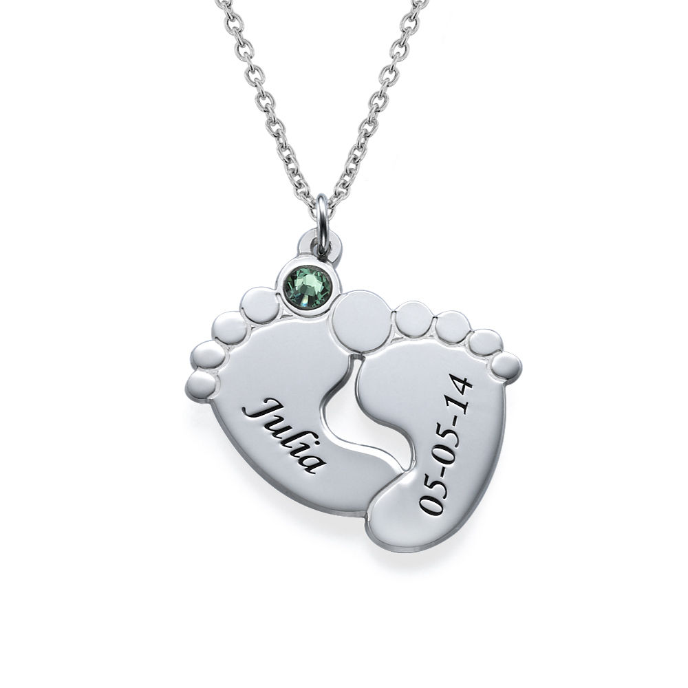 Personalized Baby Feet Necklace - 1