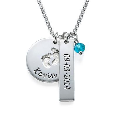 New Mom Jewelry - Baby Feet Charm Necklace