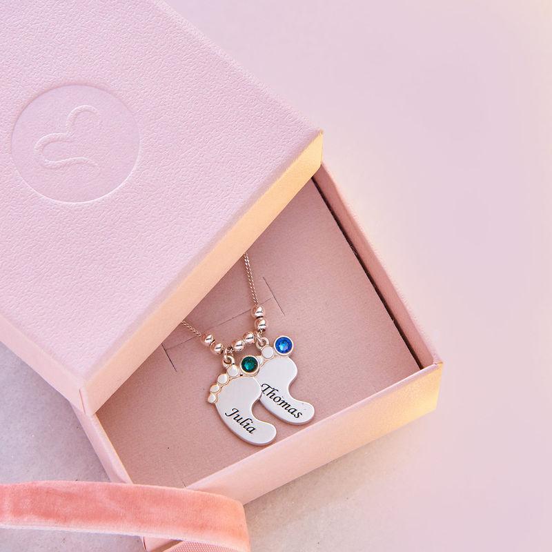 Mom Jewelry - Baby Feet Necklace - 6