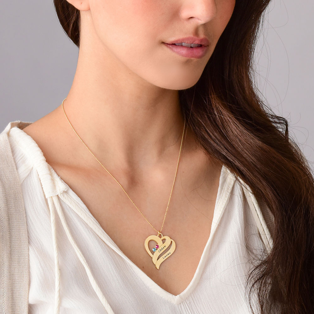 Two Hearts Forever One Necklace - 10k Gold - 4