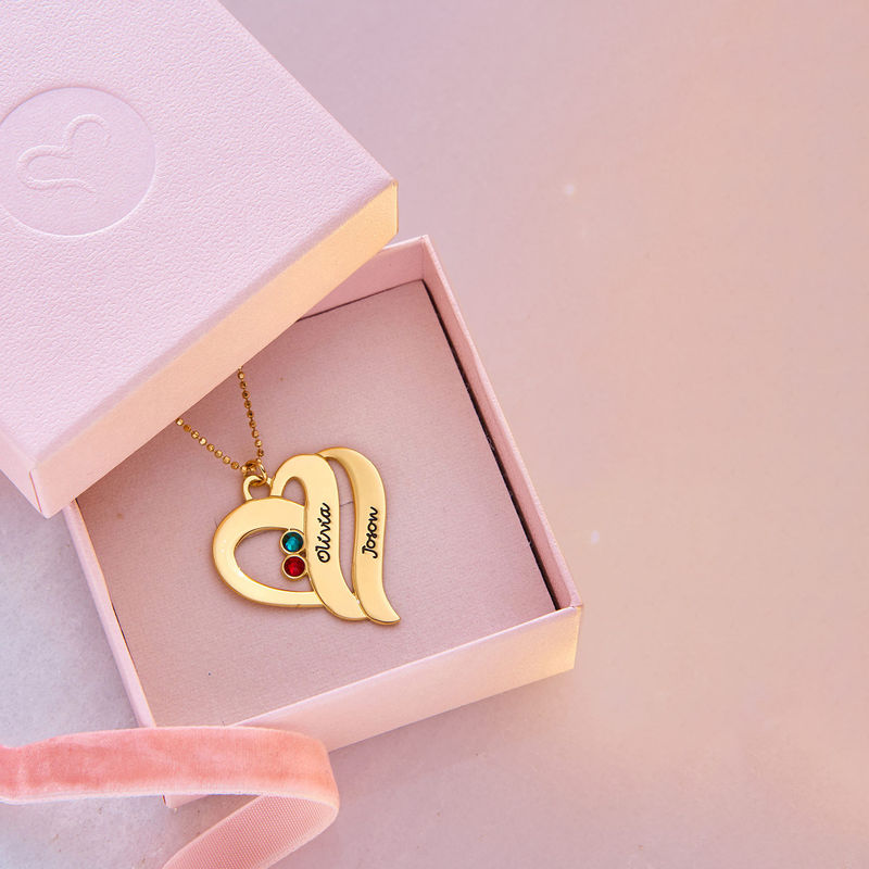 Two Hearts Forever One Necklace - 10k Gold - 6