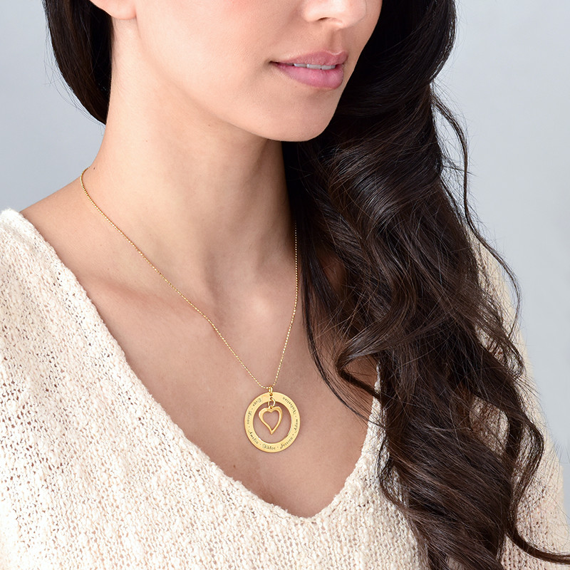 Love My Family Necklace - Gold Plated - 1