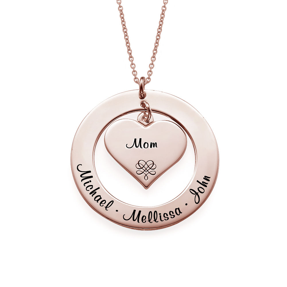 Grandmother Necklace with Rose Gold Plating - 1