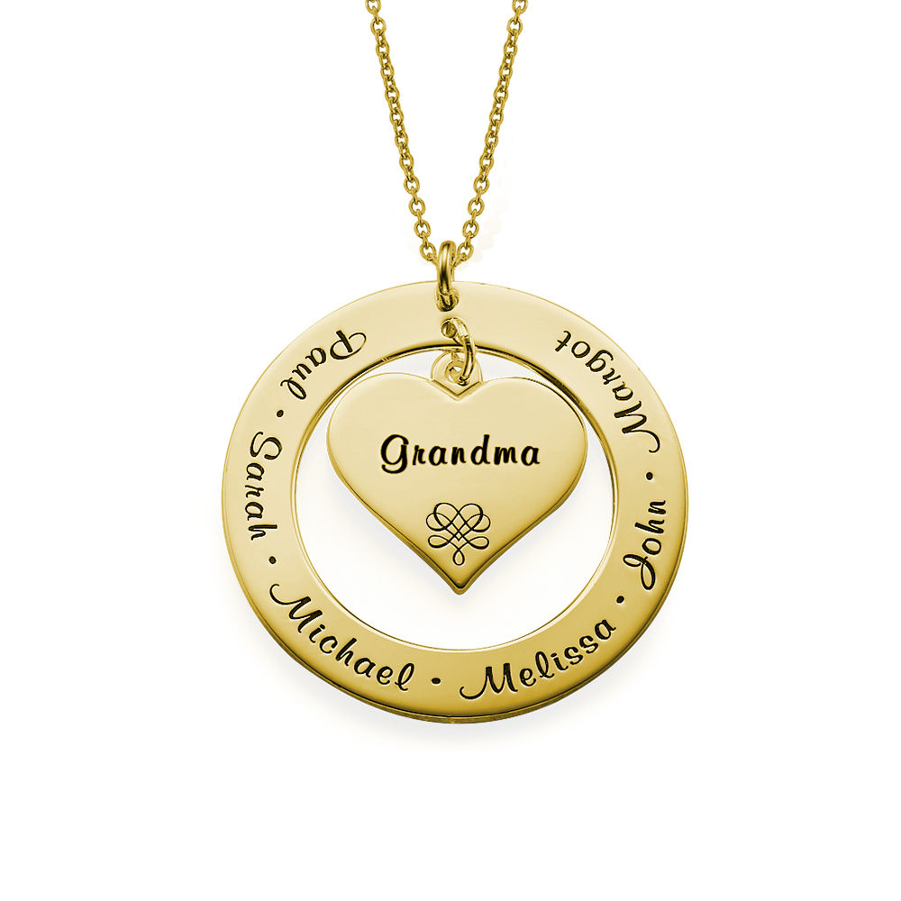 Grandmother / Mother Necklace with Names - Vermeil