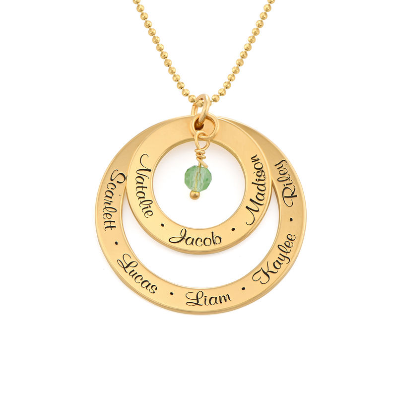 Grandmother Birthstone Necklace in Gold Plating