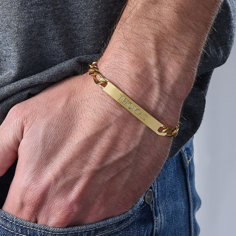 ID Bracelet for Men With Gold Plating - 3