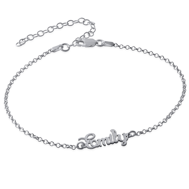 Ankle Bracelet with name in Silver