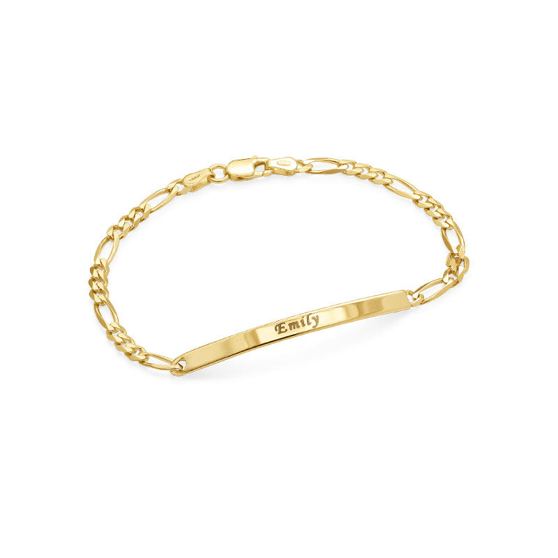 Womens ID Bracelet with Gold Plating