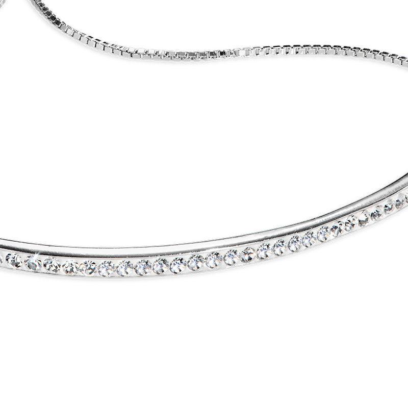Adjustable Bar Bracelet with Cubic Zirconia - 1