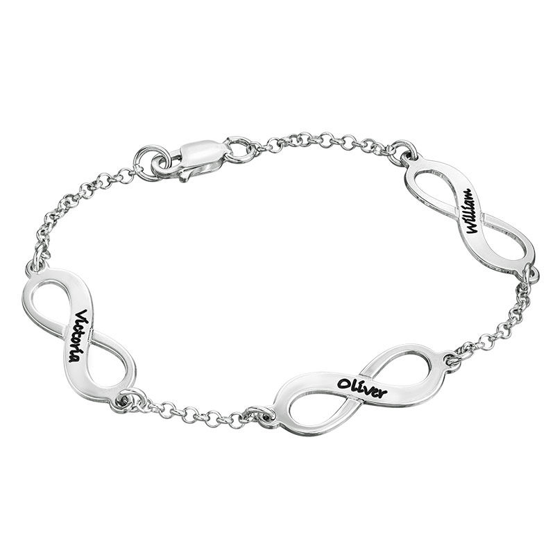 Multiple Infinity Bracelet in Silver