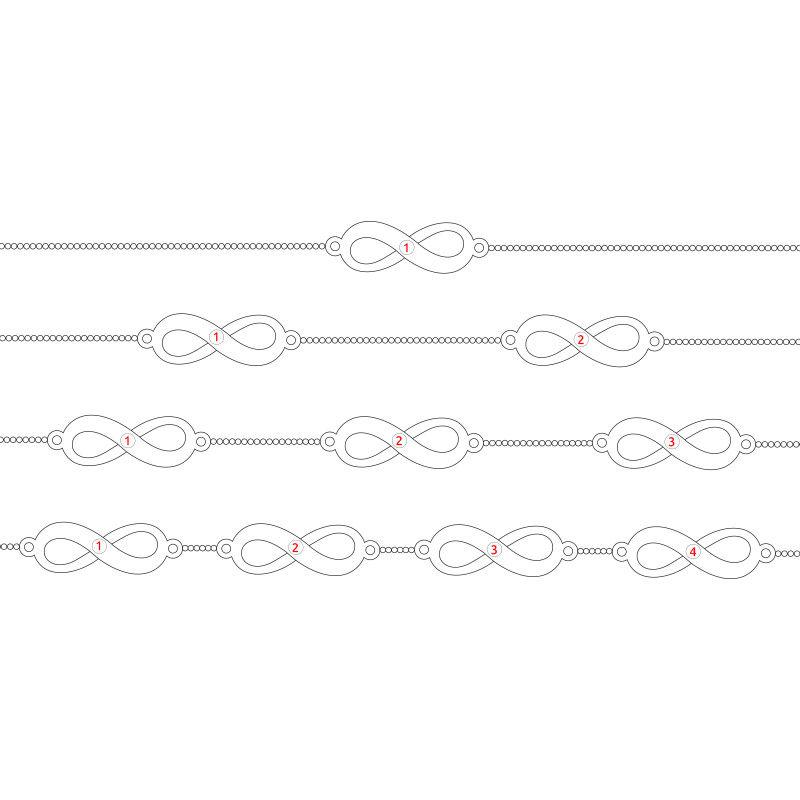 Multiple Infinity Bracelet in Silver - 6