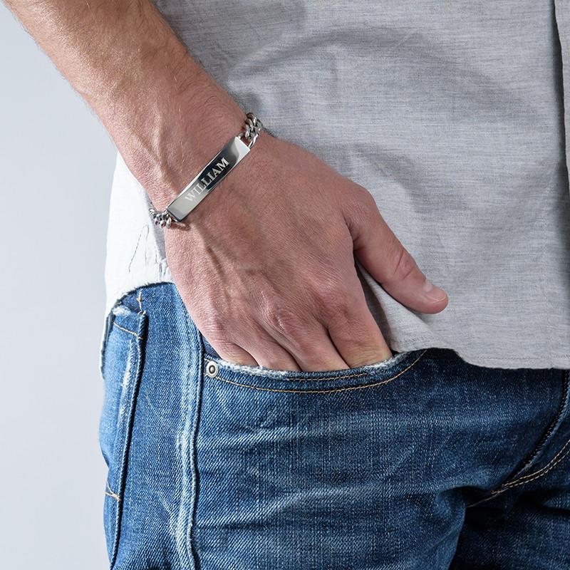 ID Bracelet for Men in Stainless Steel - 1