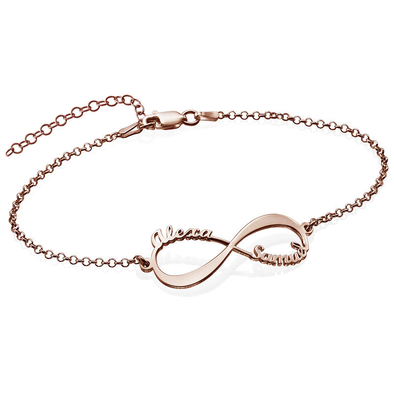 Infinity Bracelet with Names - Rose Gold Plated