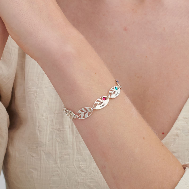 Mother Leaf Bracelet with Engraving - 2