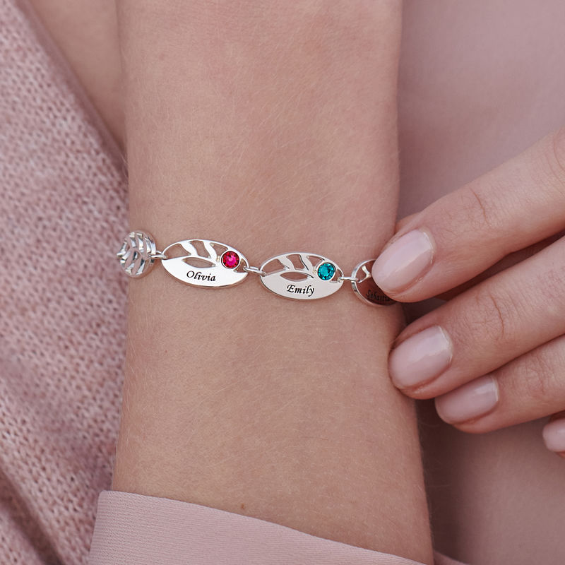 Mother Leaf Bracelet with Engraving - 3