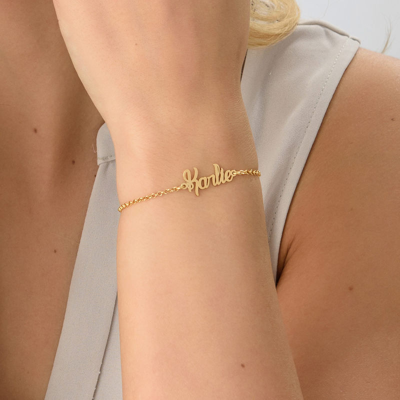 Tiny Bracelet with name in Gold Plating - 2