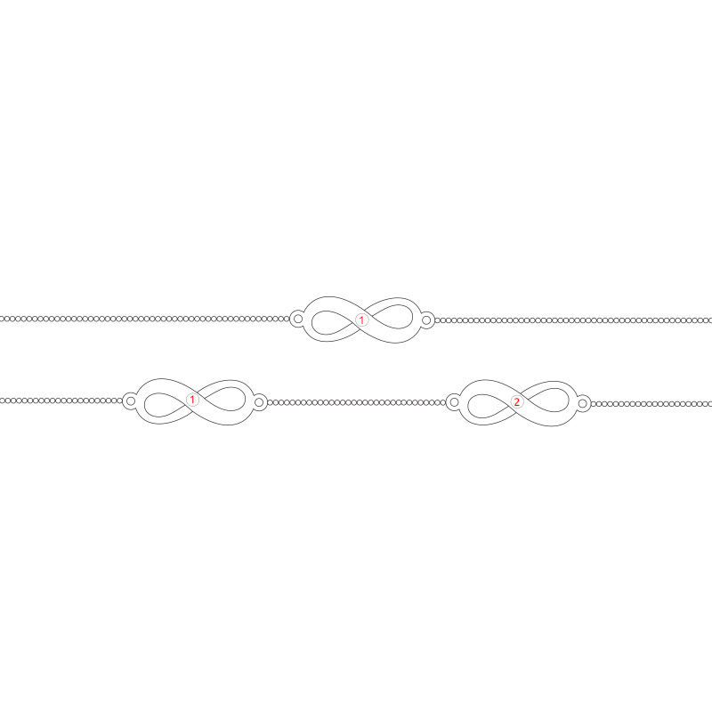 Multiple Infinity Anklet in Sterling Silver - 2