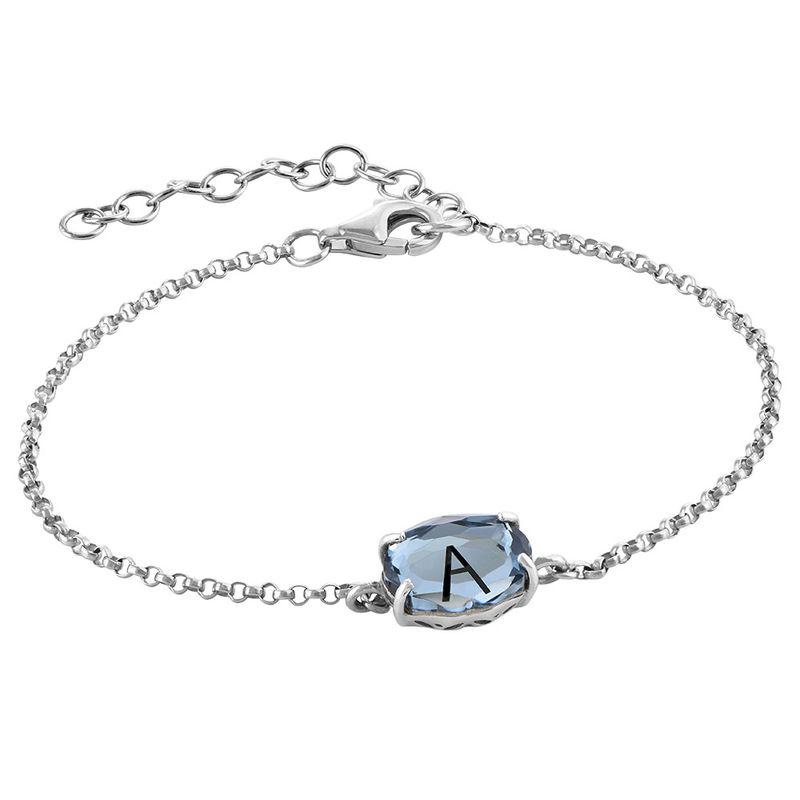 Stone Engraved Bracelet in Silver - 2