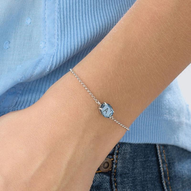 Stone Engraved Bracelet in Silver - 4