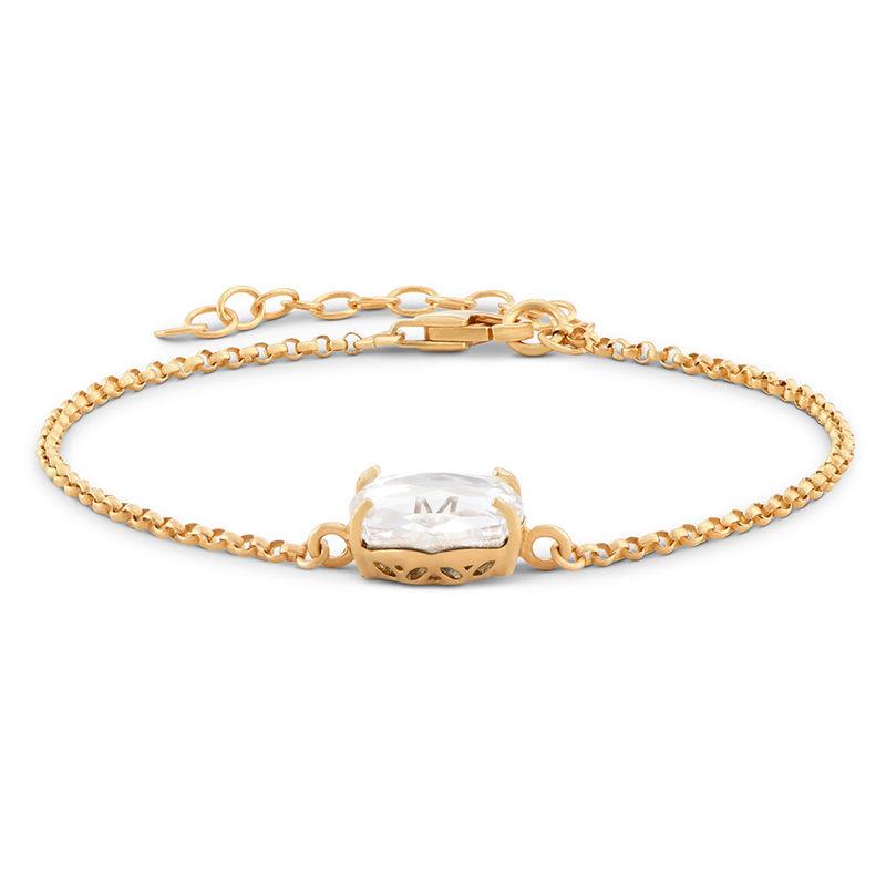 Stone Engraved Bracelet in Gold Plating - 1