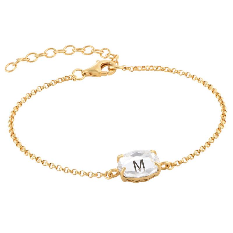 Stone Engraved Bracelet in Gold Plating - 2