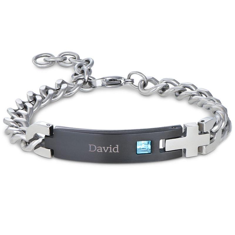 Mens ID Bracelet in Stainless Steel