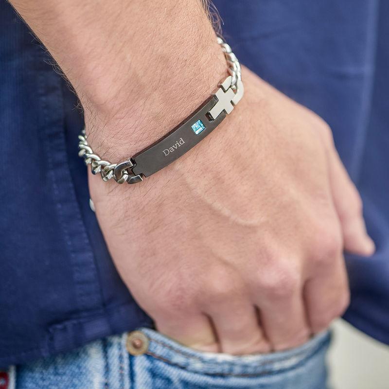 Mens ID Bracelet in Stainless Steel - 2
