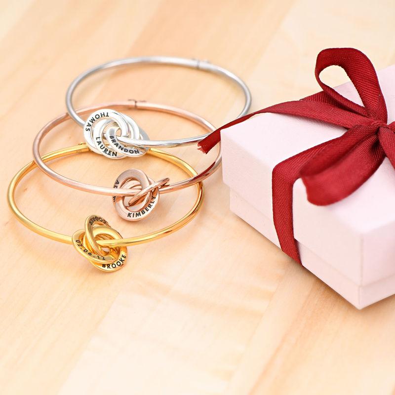 Russian Ring Bangle Bracelet in Rose Gold Plating - 1