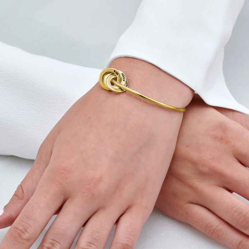 Russian Ring Bangle Bracelet in Vermeil - 3