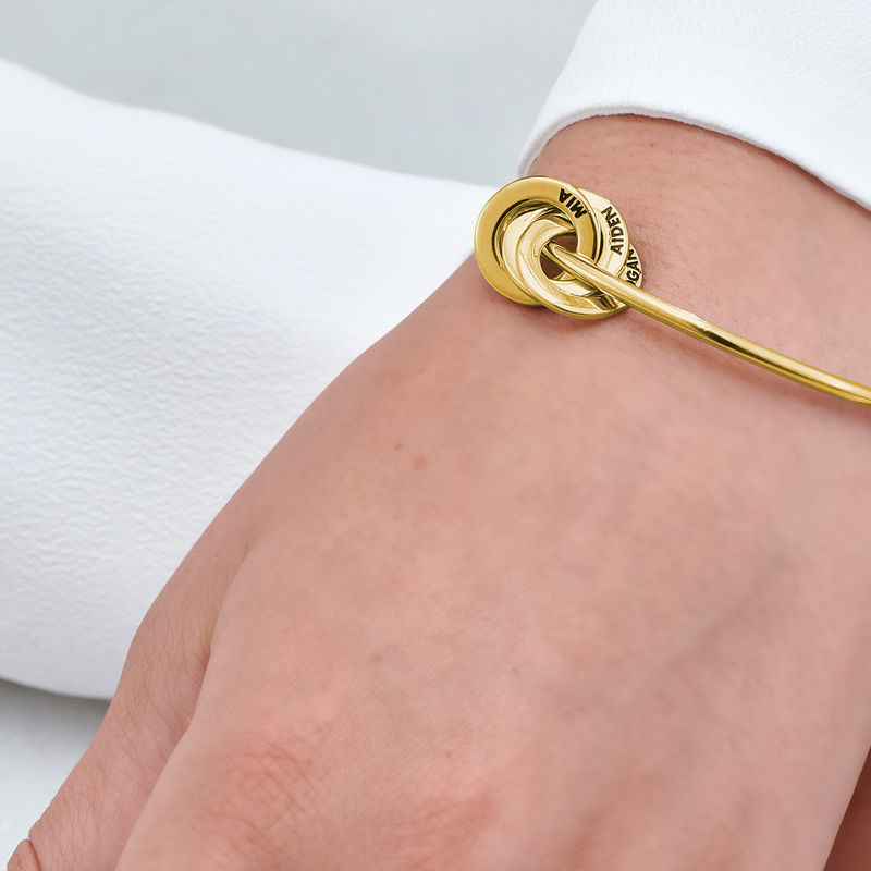 Russian Ring Bangle Bracelet in Vermeil - 4