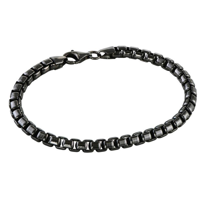 Bracelet for Men in Black Silver