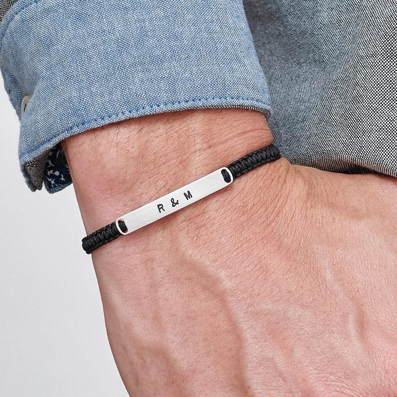 String Engraved Bar Bracelet - 2