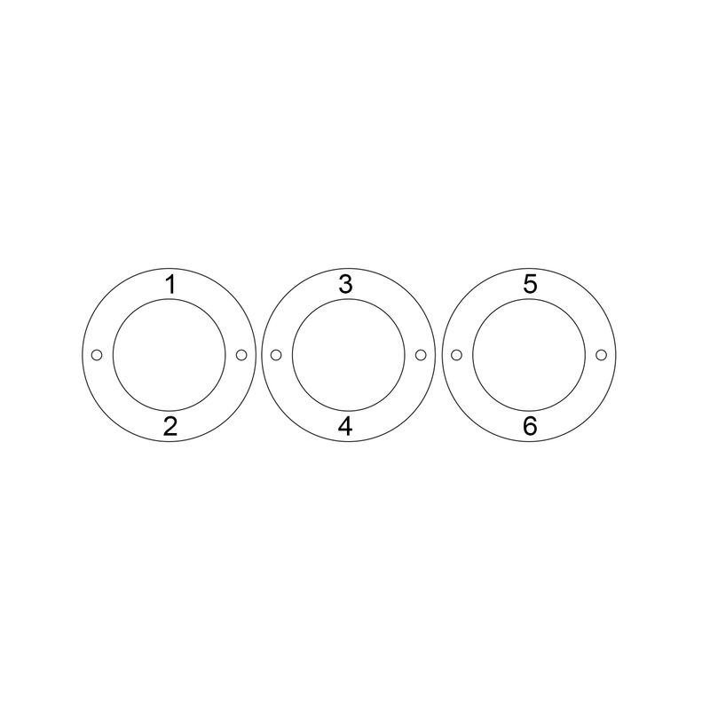 Personalized 3 Circles Bracelet with Engraving in Sterling Silver - 5