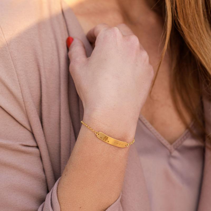 Family Bar Bracelet in 18K Gold Plating - 2