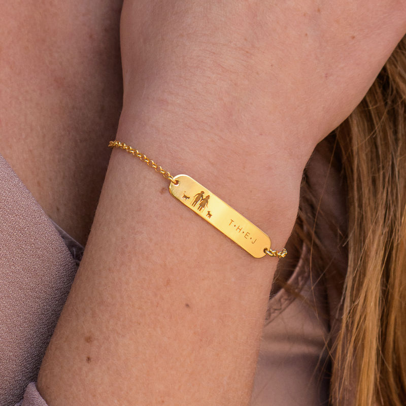 Family Bar Bracelet in 18K Gold Vermeil - 2