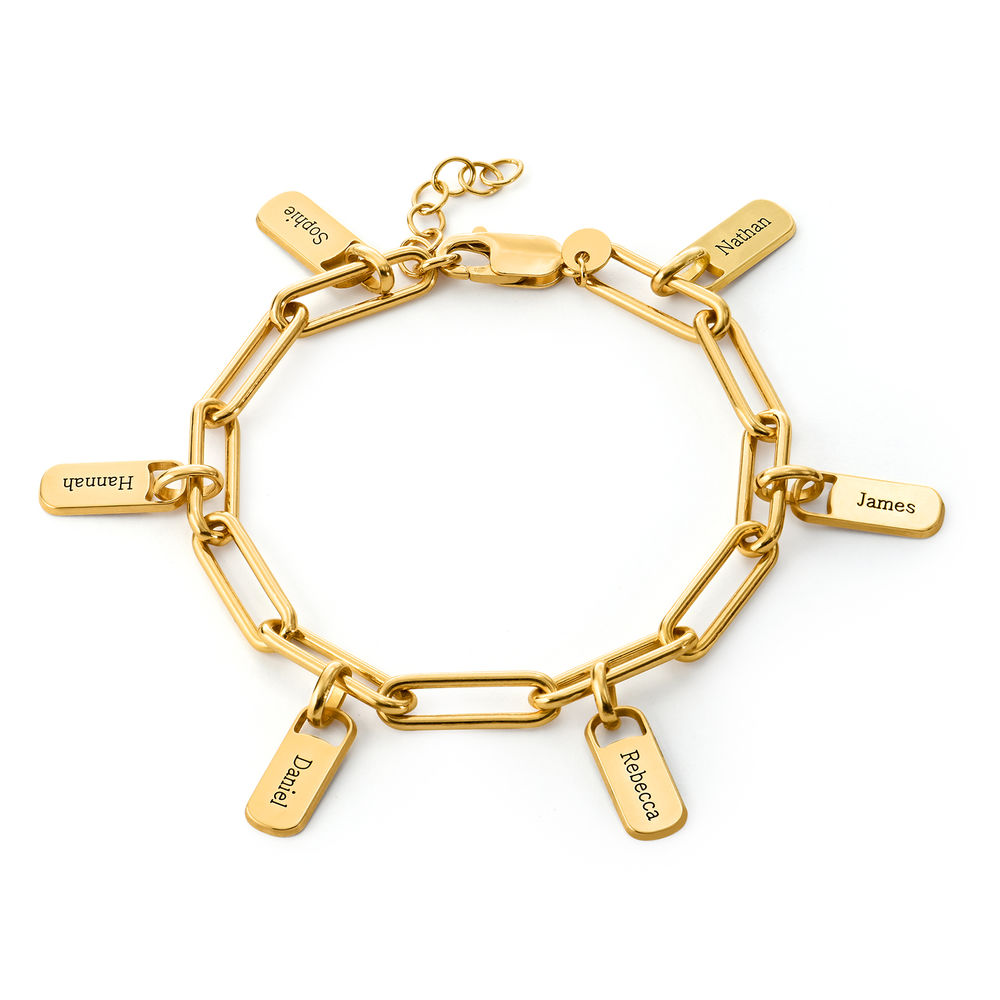Rory Chain Link Bracelet with Custom Charms in 18K Gold Vermeil