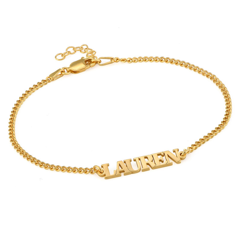 Name Bracelet with Capital Letters in 18K Gold Vermeil