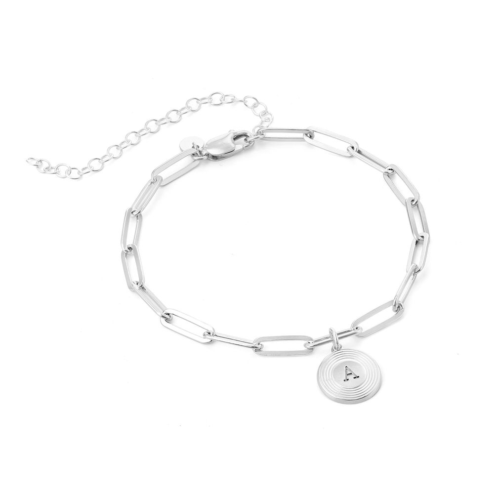 Odeion Initial Link Chain Bracelet / Anklet in Sterling Silver