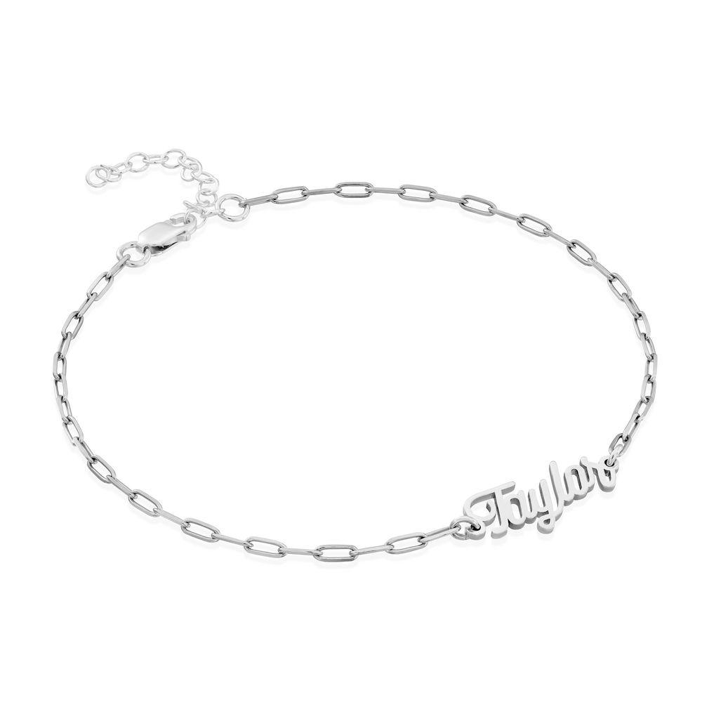 Costume Paperclip Name Bracelet/Anklet in Sterling Silver