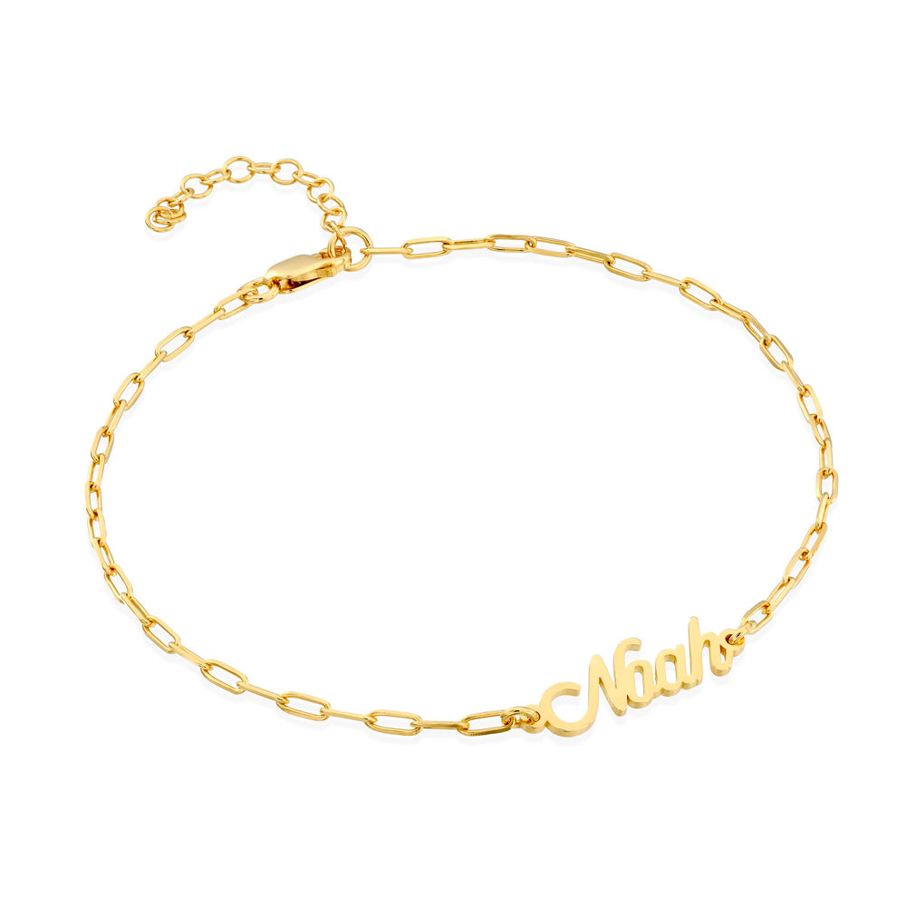 Costume Paperclip Name Bracelet/Anklet in Gold Plating
