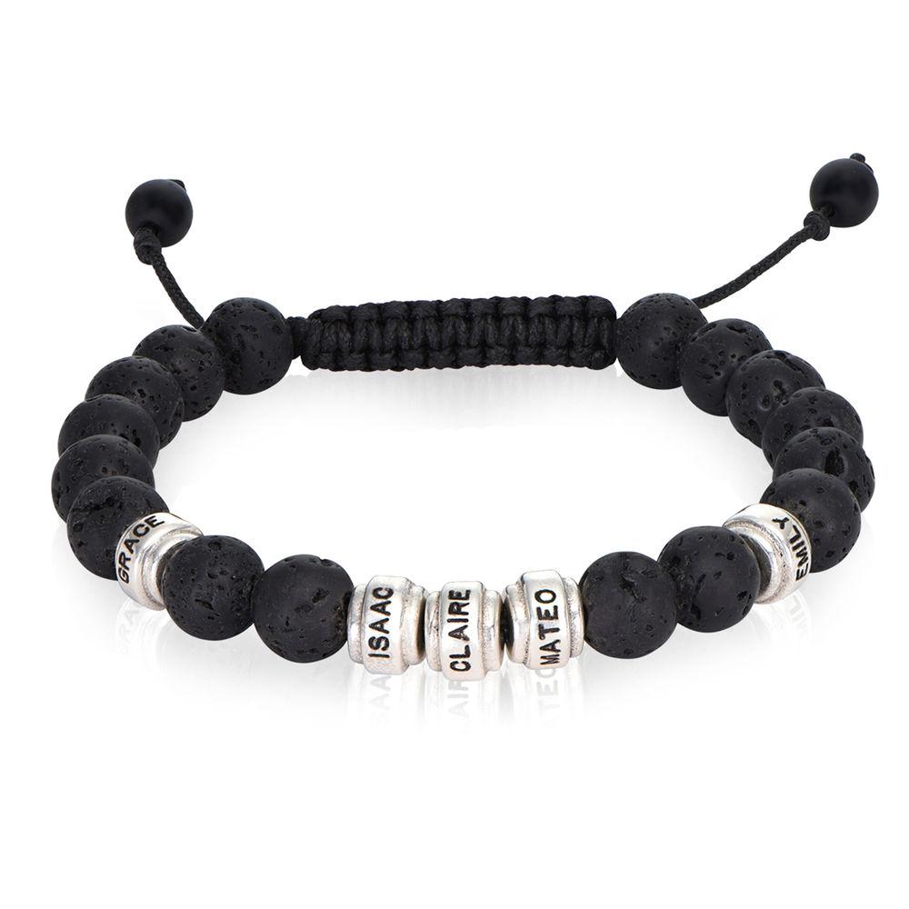 Lava Stones & Custom Beads- Men's Beaded Bracelet