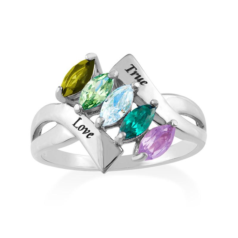 Birthstone Ring for Mom - 1